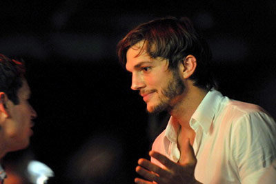 Ashton Kutcher at Fillies and Stallions Celebrity Party
