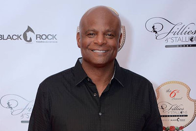 warren moon at fillies stallions derby party
